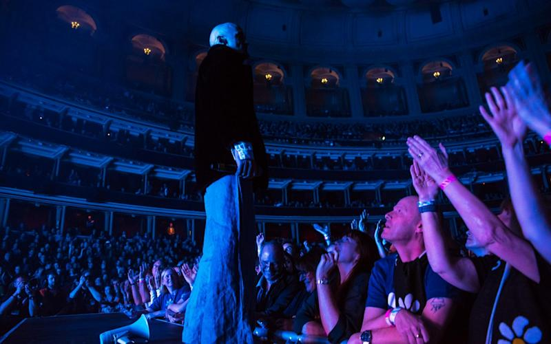 Tim Booth, lead singer of James, at the Albert Hall in 2019: one of Deuchar's first moves was to reintroduce rock bands, who had been banned since a raucous Frank Zappa gig in 1972 - Alberto Pezzali/NurPhoto via Getty Images