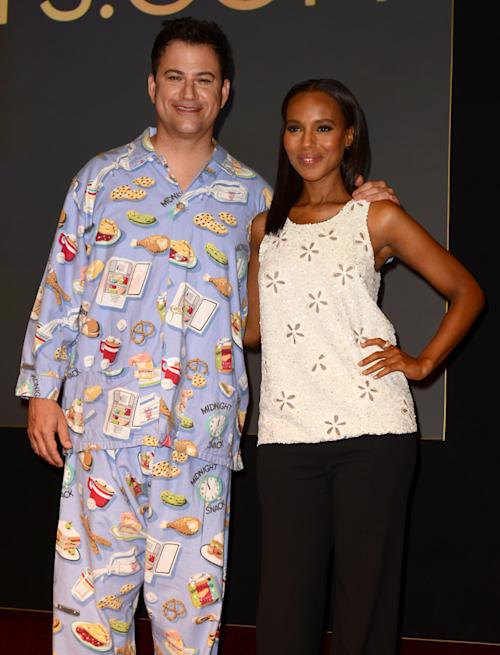 Jimmy Kimmel picks fanciest pajamas for Emmy announcement