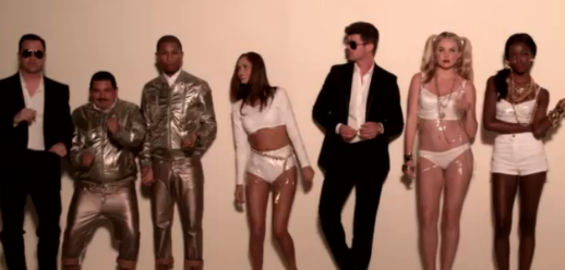 See Jimmy Kimmel Hilariously Hijack Robin Thicke's 'Blurred Lines' Video