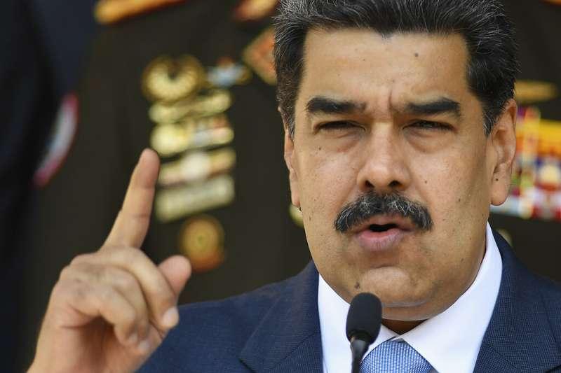 委內瑞拉總統馬杜洛譴責川普是個「種族主義牛仔」,整天只會肖想委國的石油。(美聯社)