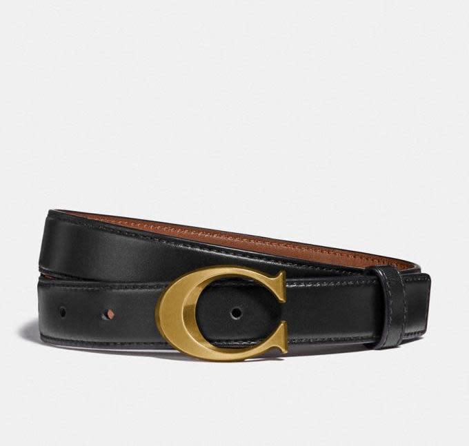 Signature Buckle Belt, 25mm. Image via Coach Outlet.