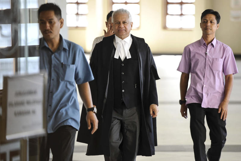 Attorney General Tan Sri Tommy Thomas is pictured at the Kuala Lumpur Court Complex, February 24, 2020. ― Picture by Shafwan Zaidon