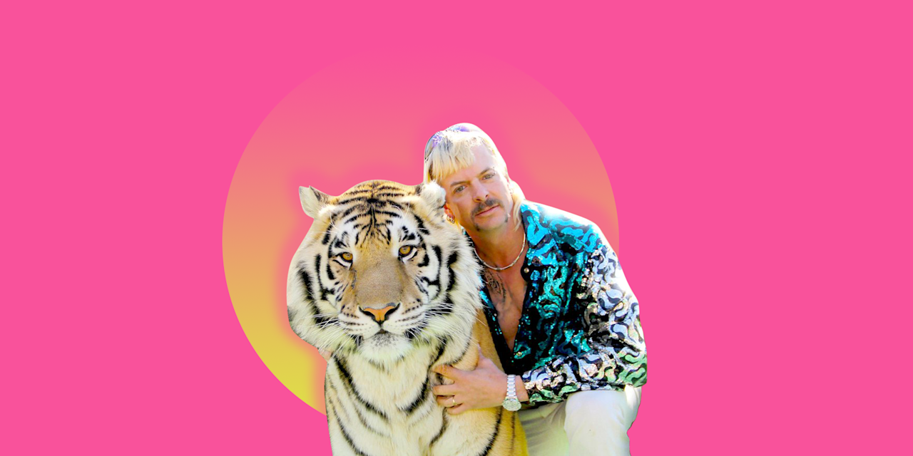 """<p>Where were you when you first heard about Joe Exotic? Many of us were completely unaware of the wild, unhinged world of private zoos and big cat breeding — that is, before Netflix dropped <em><a href=""""https://www.netflix.com/title/81115994"""" target=""""_blank"""">Tiger King: Murder, Mayhem and Madness</a></em>. Suddenly, the show become a full-blown, pop-culture phenomenon, thanks mostly to the cast of colorful characters.</p><p>Documentaries don't usually give us the best ideas for <a href=""""https://www.goodhousekeeping.com/holidays/halloween-ideas/g29516206/best-tv-movie-character-halloween-costumes/"""" target=""""_blank"""">TV or movie character costumes</a>, as it turns out, but the over-the-top, instantly recognizable characters from <em>Tiger King</em> make for the very, very fun Halloween costume. From solo looks to couples' costumes to even <a href=""""https://www.goodhousekeeping.com/holidays/halloween-ideas/g28106766/family-halloween-costumes/"""" target=""""_blank"""">family Halloween costumes</a>, just about anyone can pull off a<em> Tiger King</em> costume with the right amount of animal print. For some inspiration, here are some <em>Tiger King</em> Halloween costumes to wear this year.</p>"""