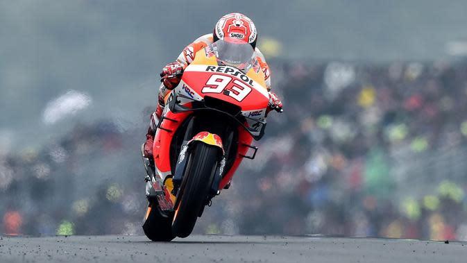 Pembalap Repsol Honda, Marc Marquez. (AFP/Jean-Francois Monier)