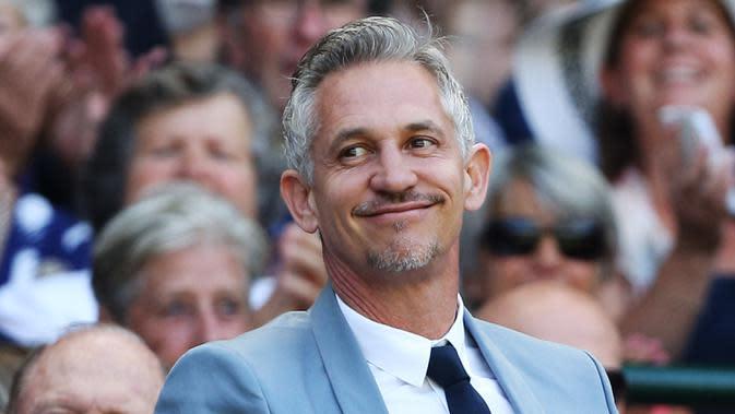 "7. Gary Lineker - ""Sepak bola adalah permainan 90 menit dengan 22 orang yang mengejar bola. Namun pada akhirnya tetap Jerman lah yang juara."" (AFP/Justin Tallis)"