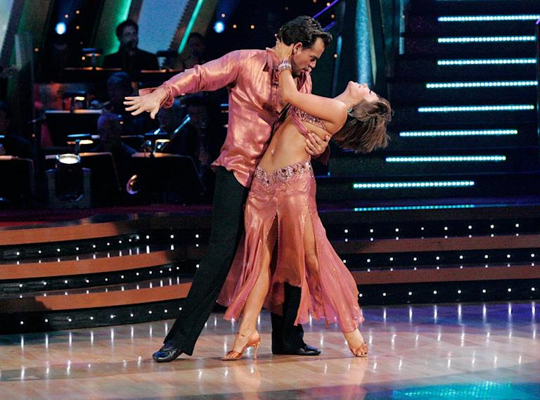 Cristian De La Fuente and Cheryl Burke perform a dance on the sixth season of Dancing with the Stars.