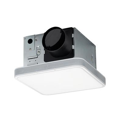 home netwerks 110 cfm led ceiling mounted bathroom exhaust fan with alexa voice assistant and bluetooth speakers white