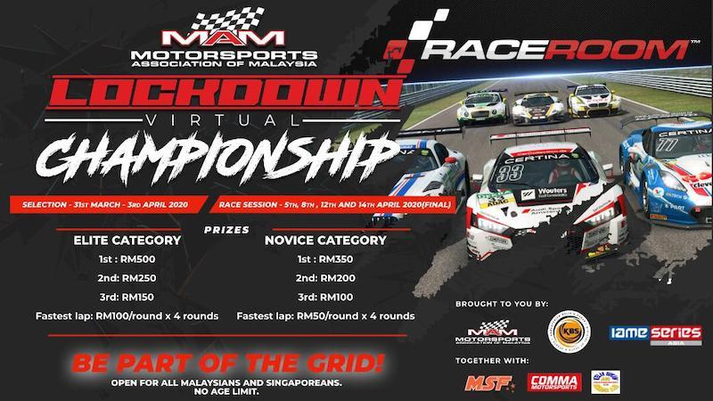 The MAM Virtual Lockdown Championship encourages Malaysian to enjoy safe and fun racing from their home. — Photo courtesy of Motorsport Association of Malaysia
