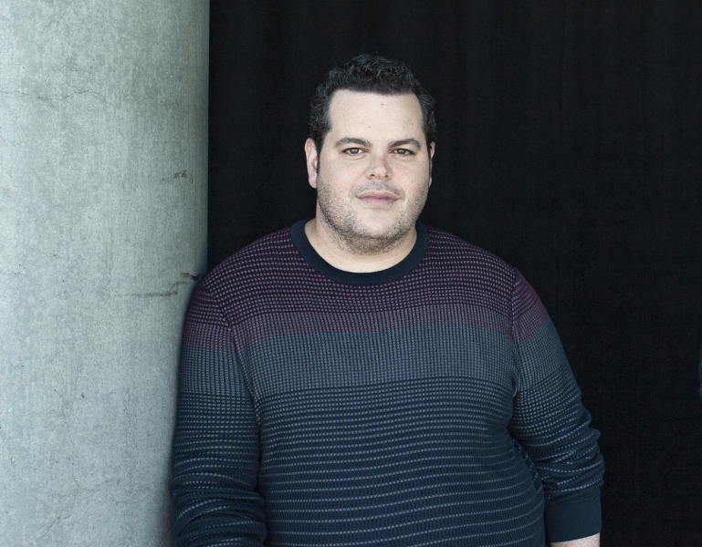 """FILE - This Nov. 9, 2019 file photo shows actor Josh Gad during a portrait session at The W Hotel in Los Angeles. Gad hosted reunion with the cast and creatives behind the 1985 film """"Goonies"""" which also served as a fundraiser for a fundraiser for those affected by the pandemic.(Photo by Rebecca Cabage/Invision/AP, File)"""