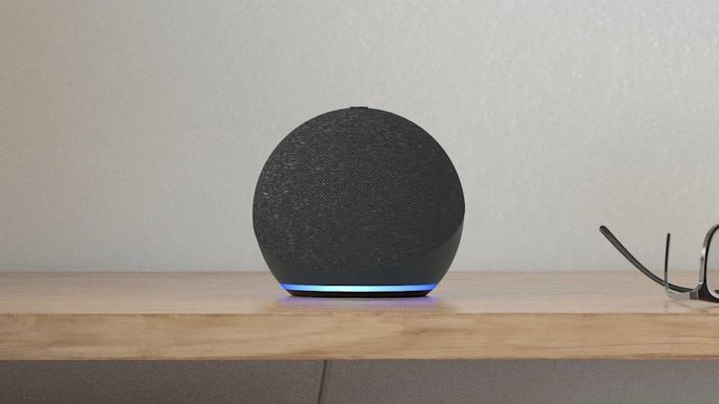 Product still of the new Echo Dot in charcoal