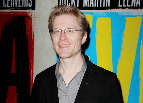 """FILE - In this April 5, 2012 file photo, actor Anthony Rapp attends the Broadway opening of """"Evita,"""" in New York. Rapp has joined """"If/Then,"""" the new musical led by Idina Menzel from the creative team behind """"Next to Normal."""" Previews begin March 4 at the Richard Rodgers Theatre. Opening night is set for March 27. (AP Photo/Starpix, Amanda Schwab, File)"""