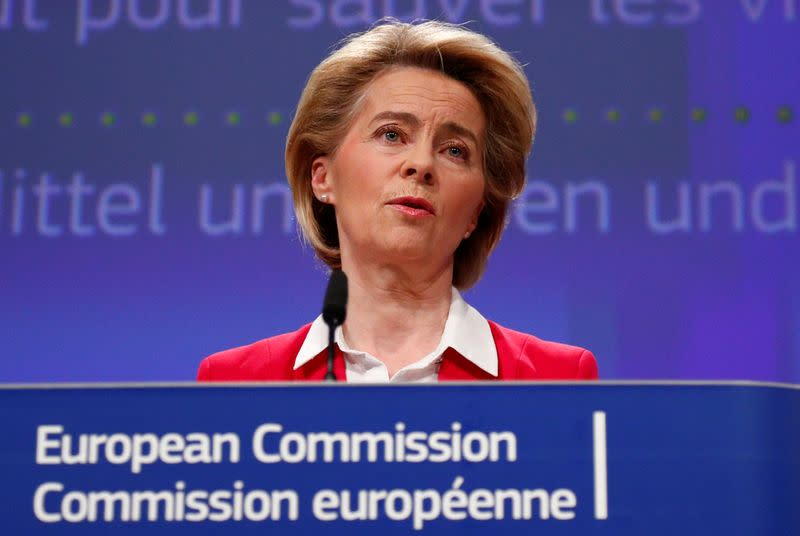 EU's von der Leyen - talks underway over possible border closure extension