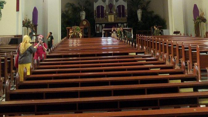 Gereja Katedral Santo Petrus di Kota Bandung. (Liputan6.com/Huyogo Simbolon)