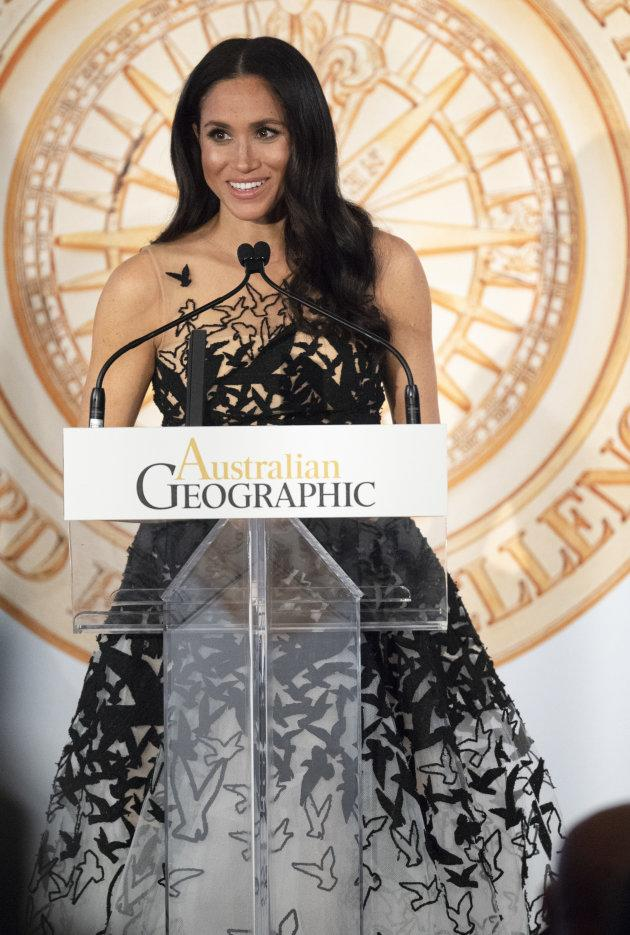 Meghan Markle attends the Australian Geographic Society Awards on Oct. 26, 2018 in Sydney, Australia.
