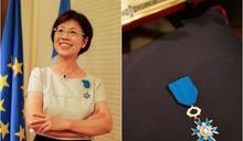 長年為人權貢獻 尤美女獲頒「法國國家功勛騎士勛章」