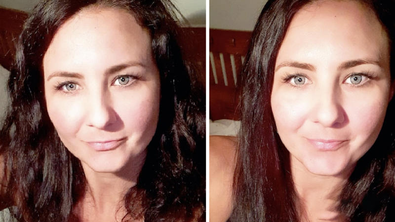 Kahra Gallet shared an impressive before and after snap. Photo: Kahra Gallet