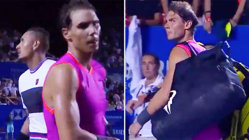 Rafael Nadal accuses Nick Kyrgios of lacking respect during defeat in Mexico