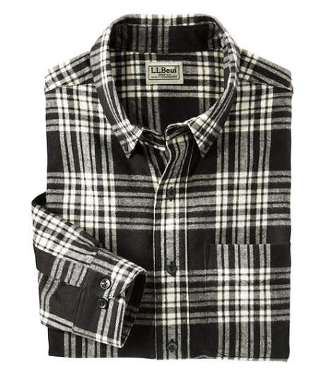 Men's Scotch Plaid Flannel Shirt. Image via L.L Bean.