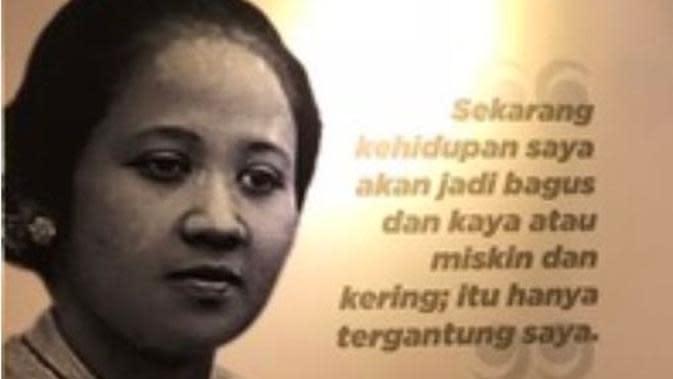 Mengingat kembali perjuangan RA Kartini lewat kata-kata mutiaranya. (Sumber: Merdeka)