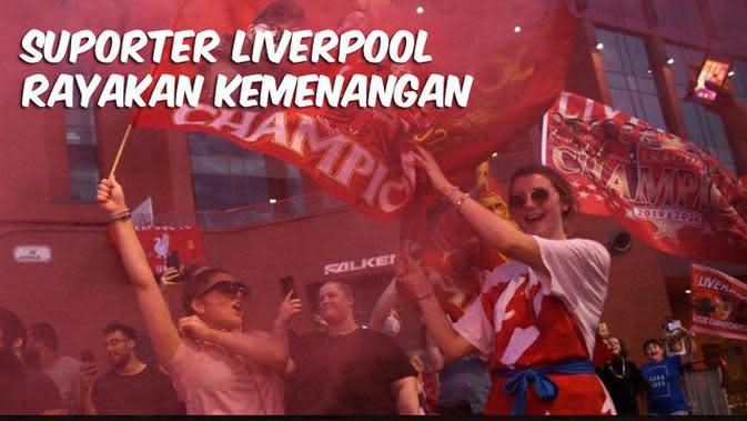 VIDEO TOP 3: Suporter Liverpool Rayakan Kemenangan