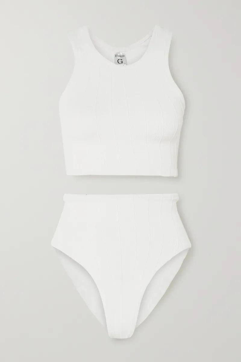 Hunza G Nile Iris Ribbed Bikini