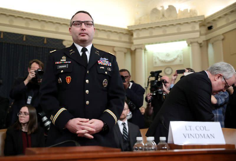 Tak ada penyelidikan terhadap eks staf Gedung Putih Vindman: Menteri Angkatan Darat AS