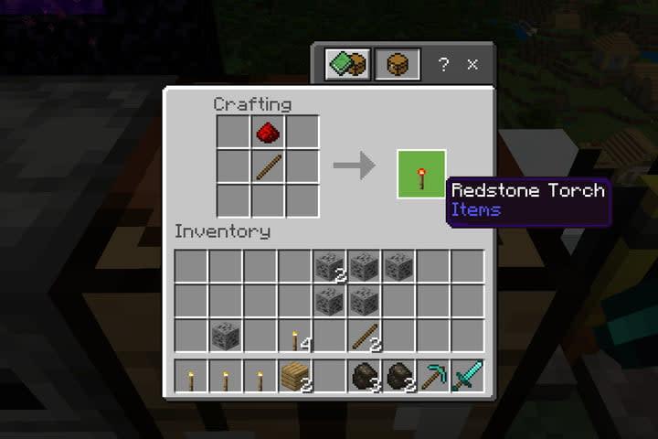 Minecraft Create Redstone Torch