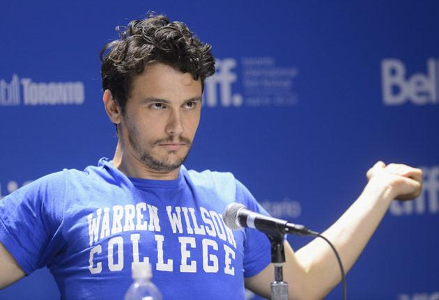 James Franco's 'Warren Wilson College' T-shirt: The meaning behind it (TIFF 2012)