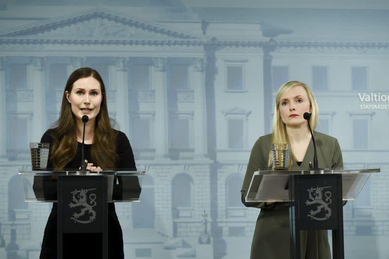 News conference of the Finnish Government regarding the coronavirus disease (COVID-19) spread, in Helsinki