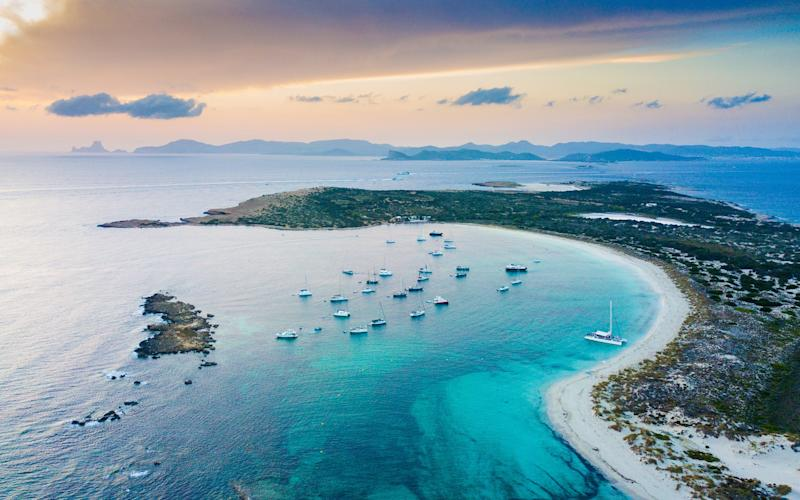 Formentera is the least visited of the Balearics - getty