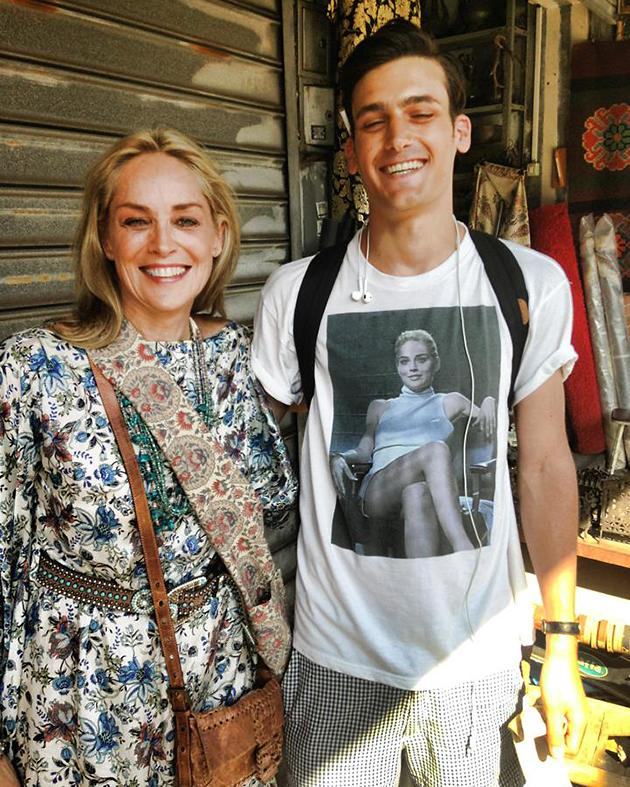 Coincidence! Fan Picks Perfect Day to Wear Sharon Stone Tee