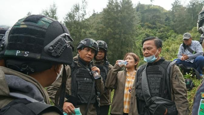Investigasi rampung, Tim Gabungan Pencari Fakta (TGPF) Kasus Penembakan Intan Jaya kembali ke Jakarta. (Liputan6.com/Fachrur Rozie))