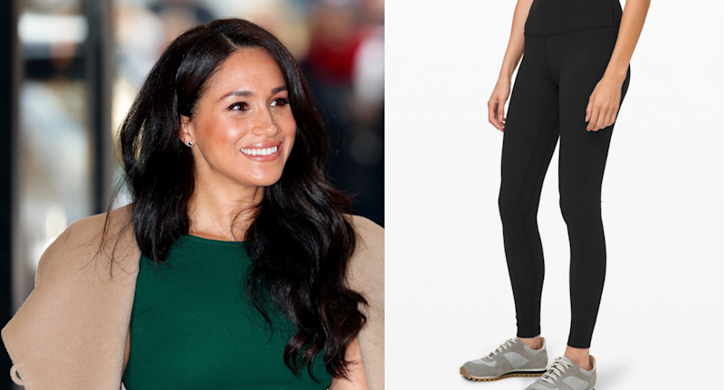 Meghan, Duchess of Sussex (Image via Getty Images) and Lululemon.com