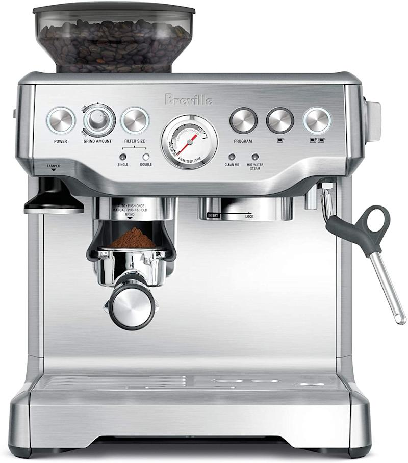 Breville BES870XL Barista Express Espresso Machine is on sale as part of Amazon's early Prime Day deals.