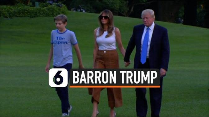 VIDEO: Barron Trump, Putra Presiden AS Sempat Positif Covid-19