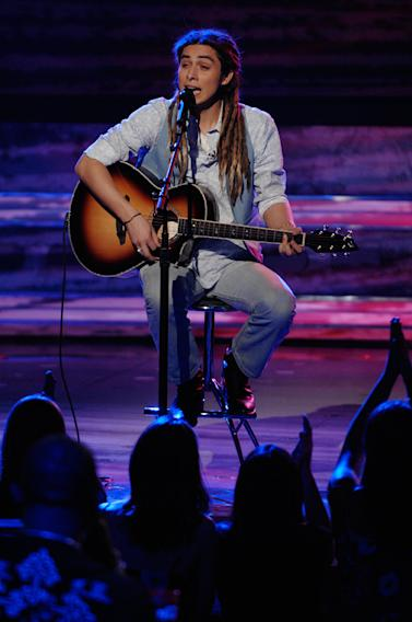 Jason Castro performs as one of the top 12 on the 7th season of American Idol.