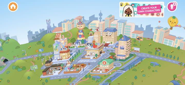 Toca Life World map