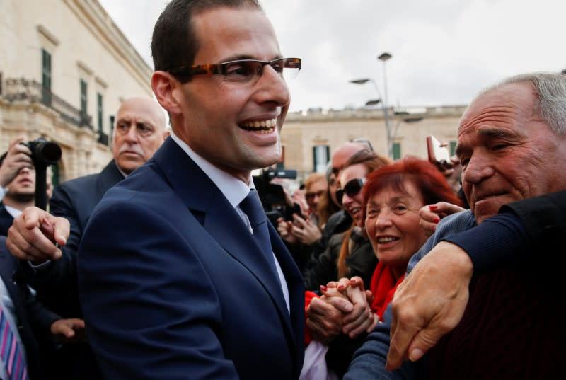Robert Abela sworn in as Malta's new prime minister