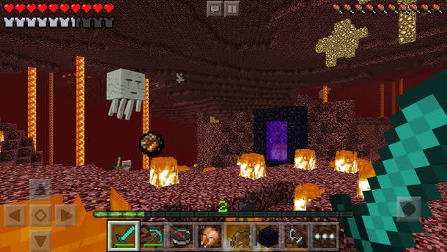 Minecraft on iOS