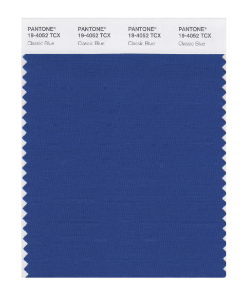 This image released by Pantone shows a classic blue color swatch. The Pantone Color Institute has named Classic Blue as its color of the year for 2020.  (Pantone via AP)