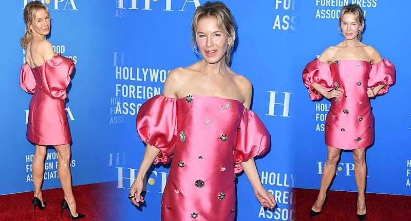 Renee Zellweger makes a triumphant return to the red carpet. [Photo: Getty]