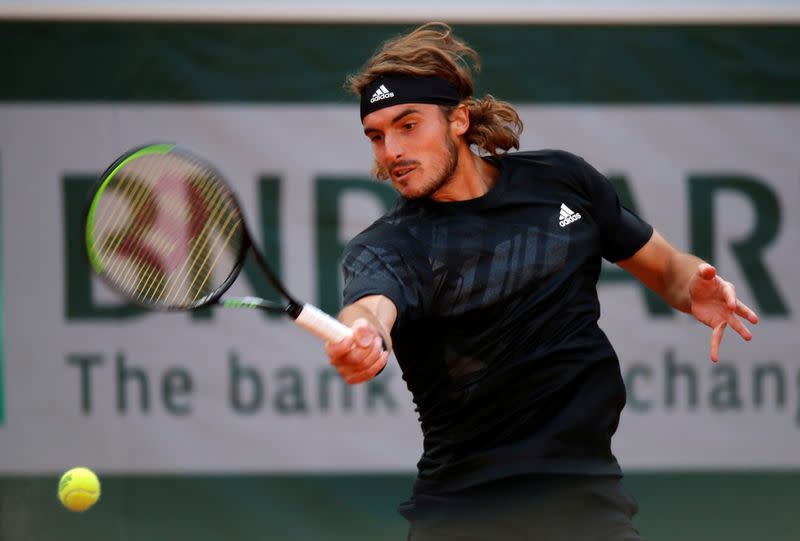 Tsitsipas recovers from slow start against Rublev to reach semis