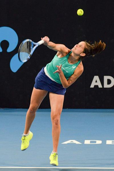 Julia Goerges of Germany in action at the Adelaide International tennis tournament