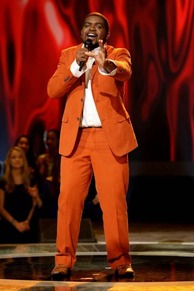 Chikezie Eze performs as one of the top 24 contestants on the 7th season of American Idol.