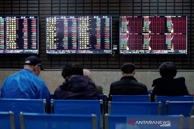 Saham China ditutup jatuh, setelah reli 3 hari beruntun