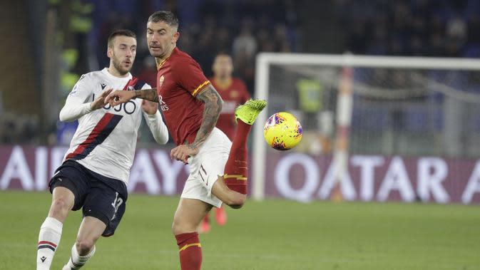AS Roma lawan Bologna di laga lanjutan Serie A (AP Photo/Gregorio Borgia)