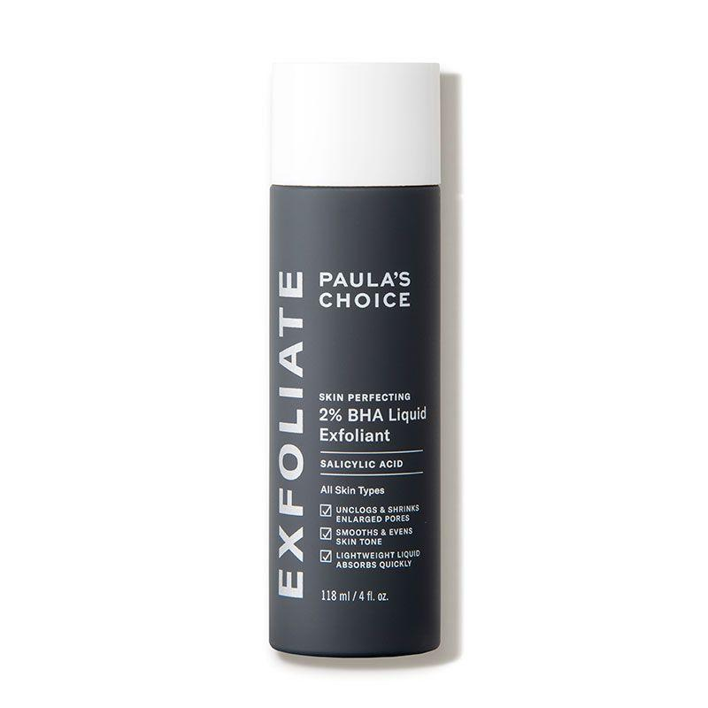 """<p><strong>Paula's Choice</strong></p><p>dermstore.com</p><p><strong>$29.50</strong></p><p><a href=""""https://go.redirectingat.com?id=74968X1596630&url=https%3A%2F%2Fwww.dermstore.com%2Fproduct_SKIN%2BPERFECTING%2B2%2BBHA%2BLiquid%2BExfoliant_54641.htm&sref=https%3A%2F%2Fwww.bestproducts.com%2Fbeauty%2Fg33658472%2Fproducts-to-treat-maskne%2F"""" target=""""_blank"""">Shop Now</a></p><p>This fan favorite will blast any maskne-causing bacteria and impurities right out of your pores. Its 2% salicylic acid formula works overtime to unclog pores and refine your skin for a clean canvas, no matter how long it's been since you washed your face mask (gross).</p><p><strong>More: </strong><a href=""""https://www.bestproducts.com/beauty/a33546840/african-black-soap/"""" target=""""_blank"""">Why You Need African Black Soap for Your Skin</a><strong></strong></p>"""