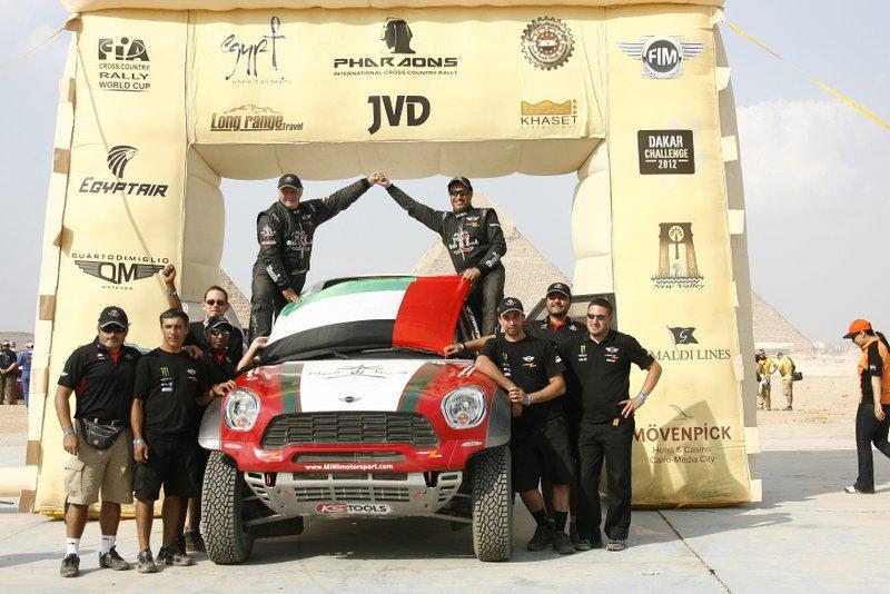 UAE driver Khalifa Al Mutaiwe became the FIA World Cup for Cross-Country Rallies champion after winning the 2012 Pharaons Cross-Country title in Cairo.