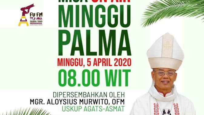 Misa On Air Minggu Palma di Pedalaman Papua