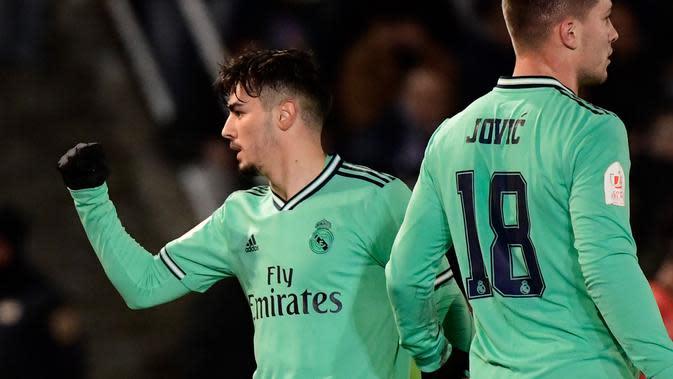 Brahim Diaz saat memperkuat Real Madrid di babak 32 besar Copa del Rey 2020 (JAVIER SORIANO / AFP)
